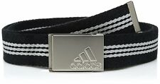 adidas Golf Stripe Webbing Belt Black/mid Grey S14 One Size