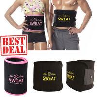 Waist Trimmer Fat Burn Tummy Belt Sweat Cincher Body Shaper Weight Loss Girdle