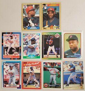 Kirby Puckett Lot of 10(Ten) MLB Baseball 1980's & 1990's Real Nice