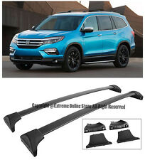 For 16-Up Honda Pilot SUV Rugged Black Top Roof Rack Cross Bar Luggage Carrier