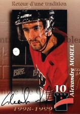 1998-99 Quebec Remparts Autographed #16 Alexandre Morel