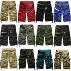 Fashion Mens Casual Military Army Combat Camo Cargo Work Shorts Pants Trousers