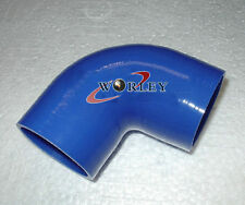 """Silicone 90 degree Elbow hose ID64mm 2.5"""" inch INTAKE INTERCOOLER PIPE Blue"""