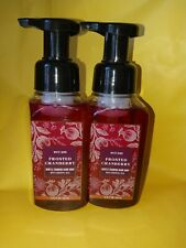 2 Bath & Body Works White Barn Frosted Cranberry Gentle Foaming Hand Soap 8.75oz