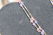 "Cookie Lee Copper and Purple Bead Single Strand Necklace, 17"" New with Tags NWT"