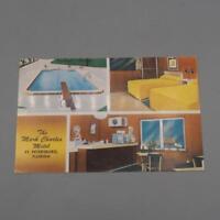 Vintage The Mark Charles Motel St. Petersburg Florida Unused Postcard