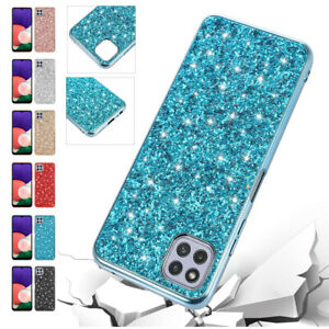 For Samsung Galaxy A22 A32 A42 S21 S20 Plus Ultra Bling Thin Phone Case Cover