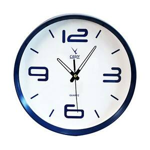 CAMY  Round Wall Clock Quality Quartz Battery Operated for Home Decor AS16