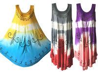 Women Long Summer Beach Party Hawaiian Boho Evening Sundress Tie Dye Dress 22020
