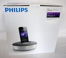 Philips ds1155/12, estación de acoplamiento/speaker a partir de Apple iPhone 5, blanco/gris, top!