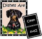 DOG DISHWASHER MAGNET (Dachshund - Black) - Clean/Dirty *Ship FREE