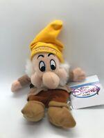 Disney Bean Bag Plush - SNEEZY (Snow White & the Seven Dwarfs) (10 inch) - W/tag