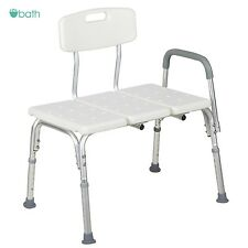 Medical Shower Chair 10 Height Adjustable Bath Tub Bench Stool Seat Back and Arm