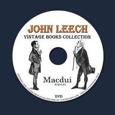 John Leech Vintage Books Collection 10 PDF E-Books on 1 DVD Caricaturist,Artist