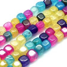 "24/"" Strand 5mm Czech Glass HURRICANE GLASS Beads LEMON LIME CUBES Pretty Green!"