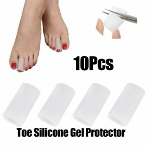 5 Pairs Toe Sleeves Comfortable Covers Silicone Gel Separator Foot Care Cushion