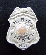 Vintage H.R.C. LINDEN N.J. Fire Department Security Badge Pin New Jersey Eagle
