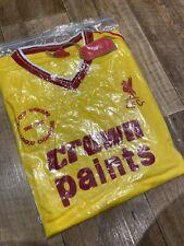 Liverpool FC Vintage 1986/87 Crown Paints Yellow Away Shirt XL - BRAND NEW Retro