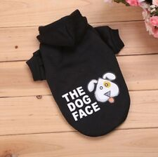 Hundebekleidung Hundeshirt Pullover Hoodie Chihuahua Schwarz Dog Face S Yorky