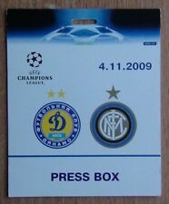 Biglietti DINAMO KIEV-INTER ITALIA 2009 Press