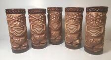 "Set of (5) Vintage Orchids of Hawaii Tiki Mugs - X-Eyes 6"""