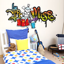 R00068 Wall Stickers Sticker Adesivi Murali Hip-hop music graffiti 120x60cm