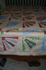 """Vintage Fan Quilt Top -102 x 91""""-Ready to finish"""