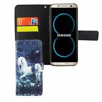 Schutz Hülle für Handy Samsung Galaxy S8 Einhorn Weiß Tasche Case Wallet Cover