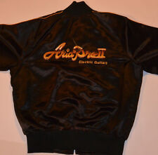 VINTAGE ARIA PRO II ELECTRIC GUITARS' EMBROIDERED JACKET! CUSTOM MADE! BLACK! L
