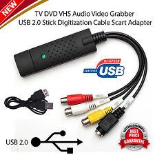 Scheda DI ACQUISIZIONE EASYCAP USB 2.0 VHS DVD Convertitore adattatore AUDIO VIDEO GRABBER