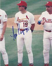 TOM PAGNOZZI  St Louis Cardinals  Signed 8x10 All Star Game photo  w/ John Kruk