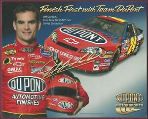 "Jeff Gordon, NASCAR Driver, 8"" x 10"" Color Photocard"