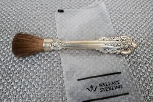 "Wallace Grande Baroque Sterling Silver Rouge Powder Cosmetic Brush  4 1/2"" L"