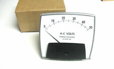 * NEW General Electric Panel Meter (AC) Volts 0 - 50 Rectifier Type . ZM-129