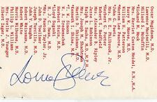 LORNE GREENE BONANZA BATTLESTAR GALACTICA TELEVISION ACTOR SIGNED PAGE AUTOGRAPH