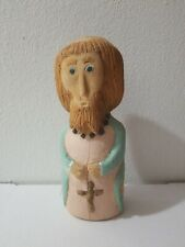 Folk Art Wood Carved Painted Santo Old Town Albuquerque New Mexico SIGNED Jose