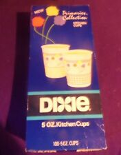 VINTAGE UNOPENED BOX OF 70S DIXIE 100 CUPS 5 OZ KITCHEN PRIMARIES COLLECTION