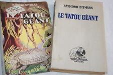 LE TATOU GEANT DITMARS ILLUSTRE BARBEY CARTE 1947