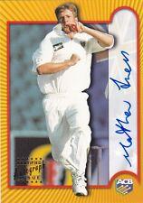 Matthew INNES 2001 - 2002 Victorian Bushrangers certified ACB signature card