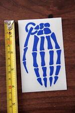 GRENADE Gloves STICKER Decal DIE CUT New BLUE Bones