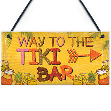 Welcome Tiki Bar Party Hanging Pub Plaque Beer Cocktails Beach Decoration Sign