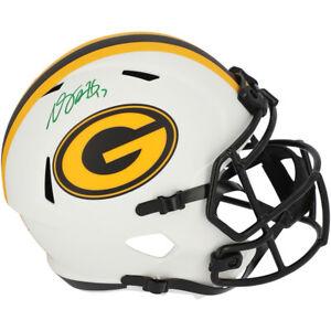 DAVANTE ADAMS Autographed Packers Lunar Eclipse Speed Helmet FANATICS