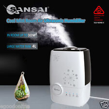 Large Air Humidifier Ultrasonic Steam 4L Aroma Vaporiser Diffuser Purifier @AU