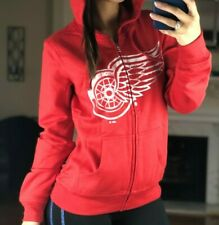 NHL Detroit Red Wings Full Zip Women Slim Fit Hoodie G-III, Red, Size M