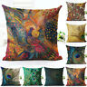 Nordic Peacock Pillow Case Sofa Bedroom Home Decor Throw Linen Cushion Cover