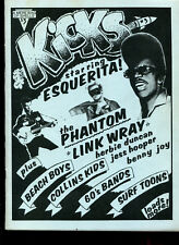 rare Fanzine :  KICKS #3   (Esquerita / Link Wray / The Phantom / Surf / Garage)