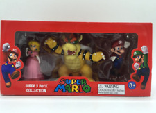 3pcs  Super Mario Bros Peach Brower Action Figure Toy Figurine New in Box