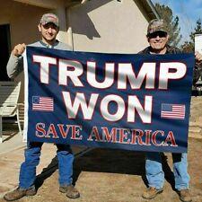 Trump Won - Save America Flag Garden Flag House Flag Wall Flag 3x5ft Flag Usa