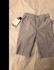 BNWT Dolce Gabbana Junior Baby Boys Trousers With Logo Tape Size 3/6 Months
