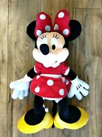 Disney Parks Minnie Mouse Red Polka Dot Large Jumbo Plush 27""